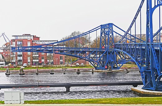 Wilhelmshaven, Kaiser Wilhelm Bridge, Swing Bridge
