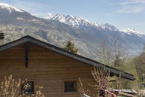 Snow, Mountain, Wood, Nature, Home, Hut, Switzerland