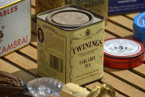 Container, Box, Tea, Mark, Twinings, Flea Market