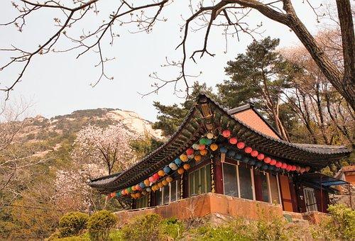 Traditional, Temple, Bukhansan, South Korea, Korea