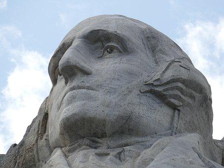 Mount Rushmore, George Washington, Sculpture, Travel