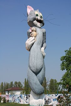 Statue, Sculpture, Cat, Childhood, Ukraine