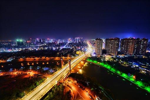 City, Cityscape, Traffic, Twilight, Illuminated, Urban