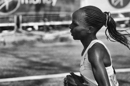 People, Adult, Woman, Athlete, Runner, Marathon, Kenyan
