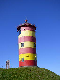 Pilsum, East Frisia, Lighthouse, Tower, Architecture