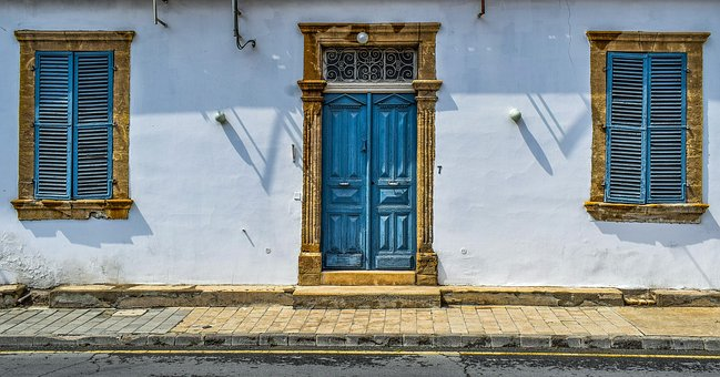 Architecture, Neoclassic, Building, House, Old, Door