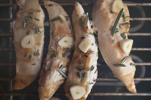Chicken, Inner Fillet, Food, Barbecue, Garlic, Rosemary