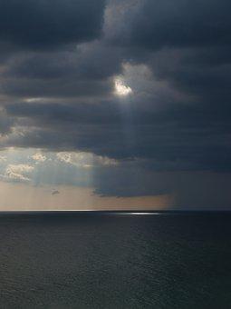 Water, Sea, Sunset, Nature, Sky, Sun, Beach, Landscape