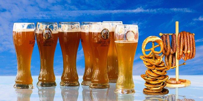 Eat, Drink, Beer, Beer Glass, Wheat Beer, Wheat