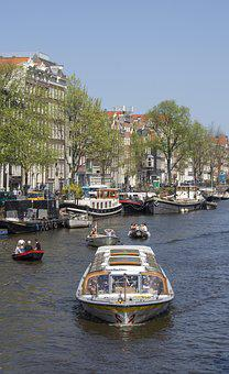 Amsterdam, Canal, Excursion Boat, Holland, Netherlands