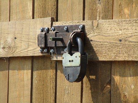 Castle, Lock, Padlock, Wood, Fence