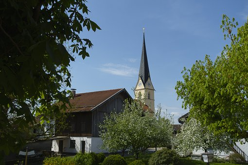 Sky, Tree, Chestnut, Church, Architecture, Village