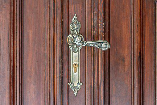Door Handle, Castle, Handle Vintage, The Door, Handle