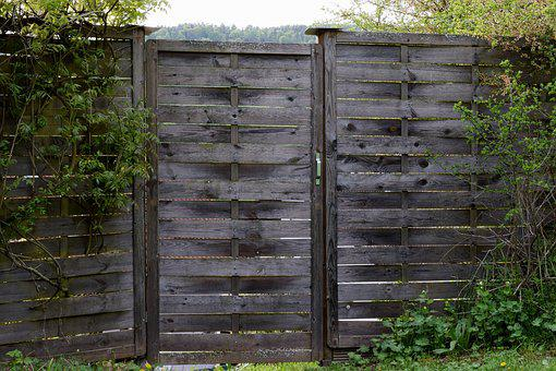 Wood Fence, Garden Fence, Fence, Wood, Paling, Nature