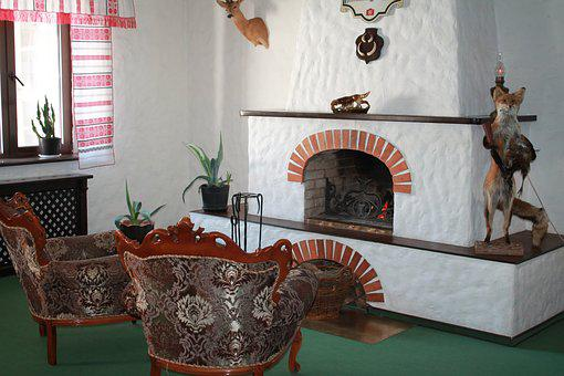 Table, House, Furniture, Room, Ornament, Fireplace