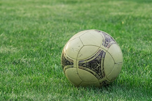 Old Ball, Sport, Play, Field, Lawn, Football, Game