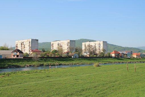 Architecture, Outdoors, Panoramic, Grass, Horizontal