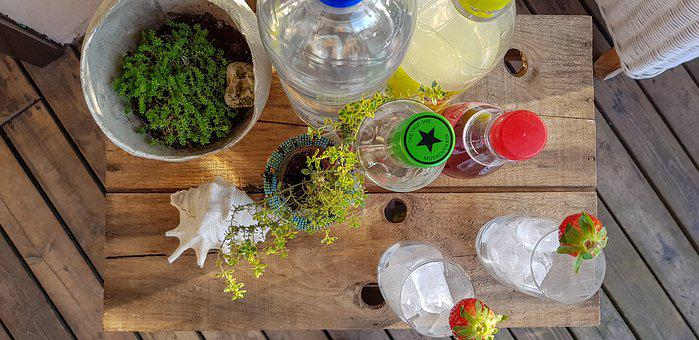 Summer, Beverages, Garden Party, Table, Party