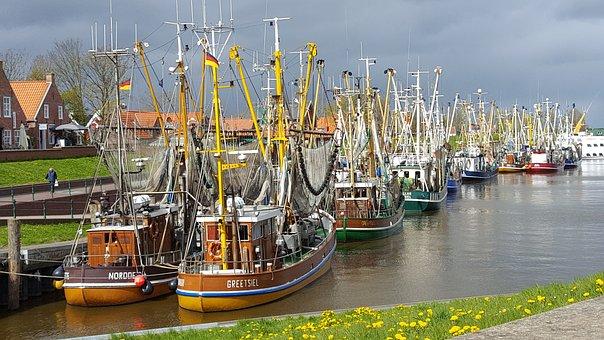 Greetsiel, Waters, Port, Boot, Pier, Sea