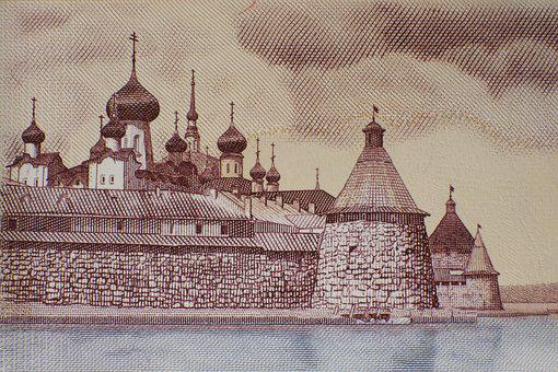 Russian, Cathedral, Dollar Bill, Five Hundred, Ruble