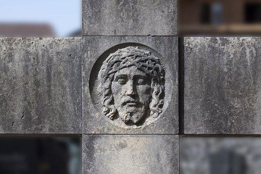 Cross, Jesus, Cemetery, Sculpture, Culture