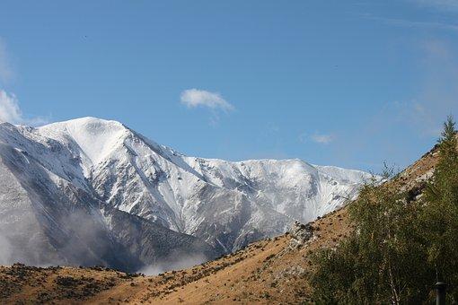 Mountain, Snow, Nature, Sky, Landscape, Mountain Peak