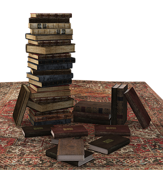 Book, Book Stack, Carpet, Stacked, Books, Literature
