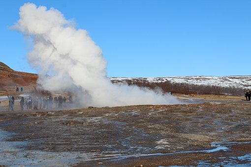 Body Of Water, No Person, Steam, Nature, Geyser