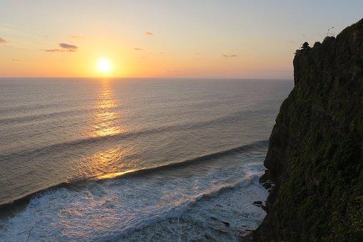 Sunset, Sea, Dusk, Sun, Water, Beach, Nature, Seashore