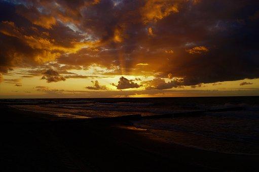 Sunset, Dusk, Dawn, Nature