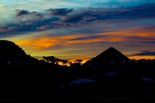 Sunset, Dawn, Dusk, Panoramic, Evening, Outdoors
