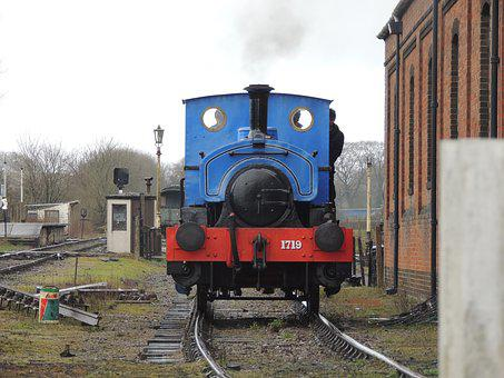 Train, Railroad Track, Railway, Engine, Locomotive