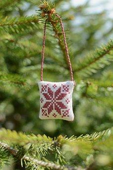 Tree, Christmas, Winter, Season, Branch, Vintage, Woman
