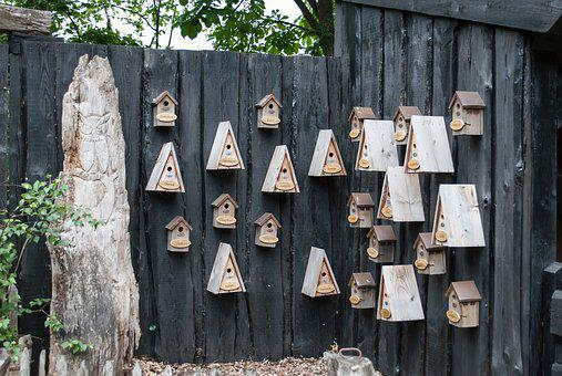 Birdhouse, Nest Boxes, Wood Bird Cage, Bird Houses