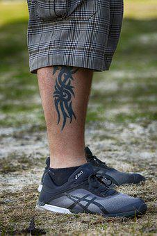 Tattoo, People, Outdoors, Adult, Foot, Man