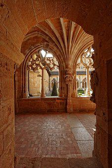Architecture, Travel, Cloister, Abbey, Cadouin