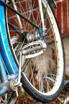 Wheel, Cycle, Bike, Spoke, Axle, Steel, Glazed, Old