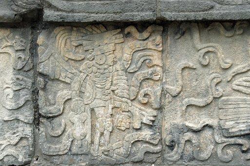 Mexico, Chichen Itza, Maya, Bas-relief, Warrior