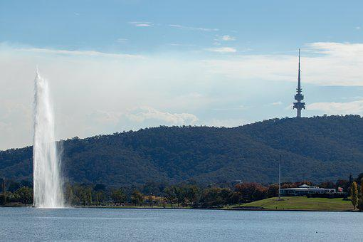 Canberra, Water, Travel, River, Landscape, Panoramic