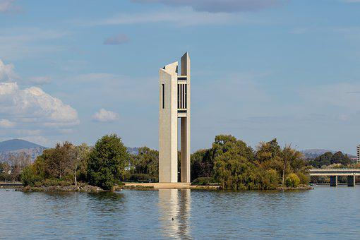 National Carillon, Canberra, Water, River, Lake, Sky