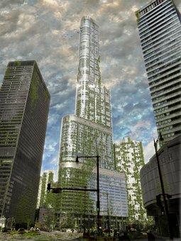 Skyscraper, City, Architecture, Cityscape, Office