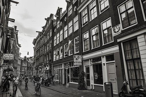 Street, People, Architecture, Outdoors, City, Amsterdam