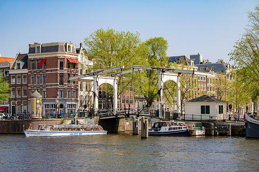 Amsterdam, Channel, Drawbridge, Waters, River, City