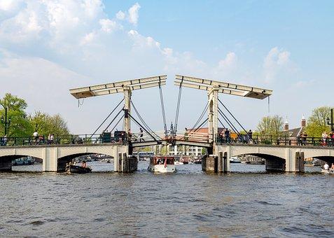Amsterdam, Magere Brug, Wooden Bridge, Drawbridge