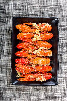 Food, Cooking, Dinner, Lunch, Supper, Garlic Crayfish