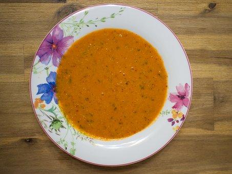 Food, Soup, Bowl, Spoon
