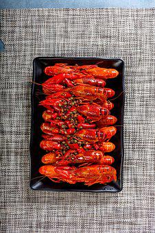 Food, Spicy Crayfish, Cooking