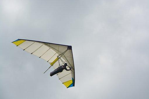 Delta-plane, Hover, Glider, Free Flight, Aircraft, Air