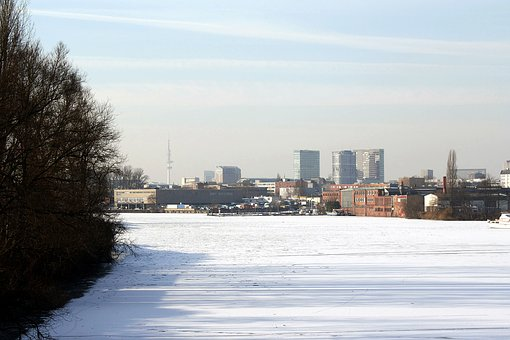 Winter, Ice, Snow, Hamburg, Hanseatic City Of Hamburg