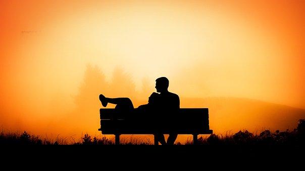 Sunset, Silhouette, Dawn, Backlit, Dusk, Couple, Love